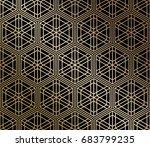japanese traditional lattice... | Shutterstock .eps vector #683799235