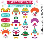 Circus Clown Party Vector Phot...