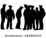 people of special police force... | Shutterstock .eps vector #683800435