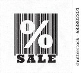 sale logo lettering with... | Shutterstock .eps vector #683802301