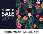 summer colorful hawaiian vector ...   Shutterstock .eps vector #683803549