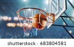 basketball hoop in a... | Shutterstock . vector #683804581