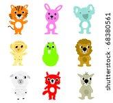 vector cartoons   Shutterstock .eps vector #68380561