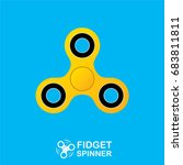 vector fidget spinner toy icon... | Shutterstock .eps vector #683811811