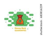 bag for money  coins  a contour ... | Shutterstock .eps vector #683816239