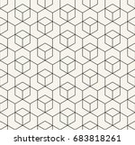 seamless geometric line grid... | Shutterstock .eps vector #683818261