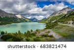 wide panorama of lake of... | Shutterstock . vector #683821474