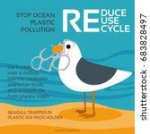 stop ocean plastic pollution... | Shutterstock .eps vector #683828497