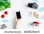 children tourism outfit with...   Shutterstock . vector #683828605