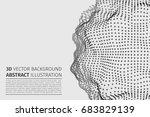 abstract vector illustration.... | Shutterstock .eps vector #683829139