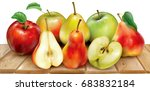 apples and pears of red and...   Shutterstock .eps vector #683832184