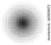abstract halftone dotted... | Shutterstock .eps vector #683834071