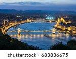 panoramic night view of... | Shutterstock . vector #683836675
