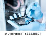 lab engineer repairing and... | Shutterstock . vector #683838874