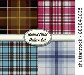 vector knitted plaid tartan... | Shutterstock .eps vector #683843635