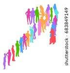 arrow made of vector... | Shutterstock .eps vector #683849149