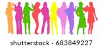 many vector silhouettes... | Shutterstock .eps vector #683849227