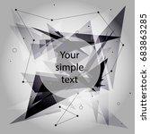 wireframe mesh broken polygonal ... | Shutterstock .eps vector #683863285
