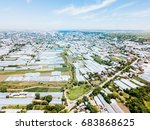 aerial drone view of... | Shutterstock . vector #683868625