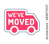 we've moved. vector icon ... | Shutterstock .eps vector #683871937
