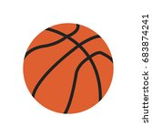 basketball icon. basketball... | Shutterstock .eps vector #683874241