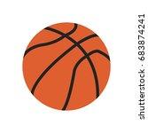 basketball icon. basketball... | Shutterstock .eps vector #683874241