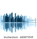 panorama  architecture... | Shutterstock . vector #683875549
