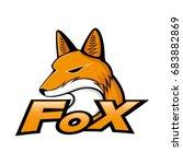 sign of fox. | Shutterstock .eps vector #683882869