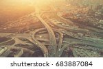 aerial drone flight view of... | Shutterstock . vector #683887084