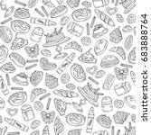 vector seamless pattern with... | Shutterstock .eps vector #683888764