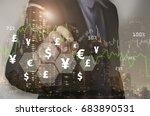 double exposure businessman... | Shutterstock . vector #683890531