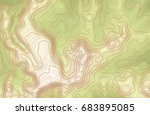 topographic map background with ... | Shutterstock .eps vector #683895085