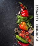 vegetables. fresh vegetables.... | Shutterstock . vector #683895319