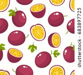 vector seamless pattern with... | Shutterstock .eps vector #683897725