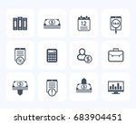 bookkeeping  finance icons set  ... | Shutterstock .eps vector #683904451