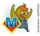 Super Hero Character Letter M...