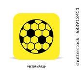 football vector icon  soccerball