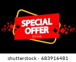 special offer  poster design... | Shutterstock .eps vector #683916481