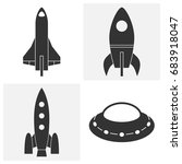 rocket icons. set of vector... | Shutterstock .eps vector #683918047