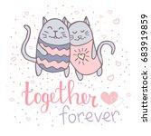 Illustration Of Cute Loving...
