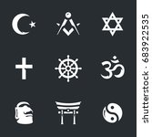religion icons. | Shutterstock . vector #683922535