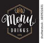 restaurant menu template hand... | Shutterstock . vector #683922631