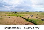 hay bales and windmill in... | Shutterstock . vector #683925799