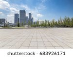 empty floor with modern... | Shutterstock . vector #683926171