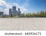 empty floor with modern... | Shutterstock . vector #683926171