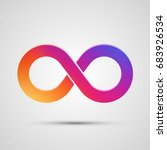 infinity symbol with color...   Shutterstock .eps vector #683926534