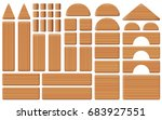 wooden toy blocks   collection... | Shutterstock .eps vector #683927551