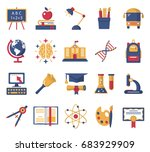 education icons set. | Shutterstock .eps vector #683929909
