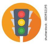traffic lights vector icon  | Shutterstock .eps vector #683932195
