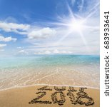 new year 2018 is coming concept.... | Shutterstock . vector #683933641